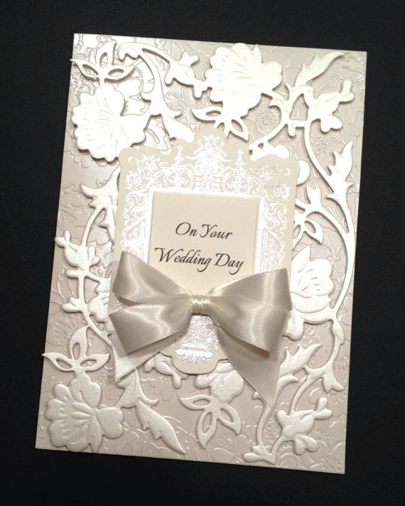 Fancy Ivory Floral Wedding Card with Silver Foil and Elegant ...