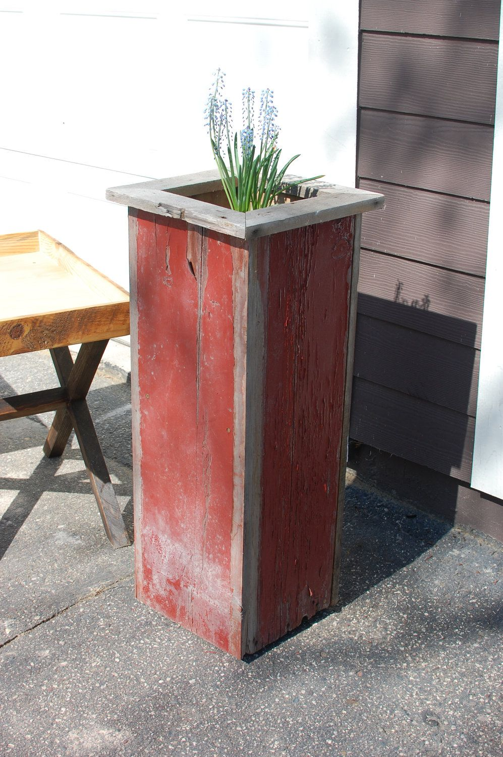 the katie planter box chippy reclaimed barnwood plant. Black Bedroom Furniture Sets. Home Design Ideas