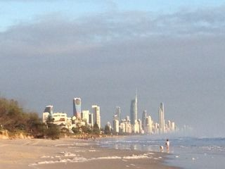 Nobby beach view of surfers paradise 1 February 2013