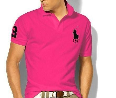 NWT Ralph Lauren Men's Cotton Pink/Blue Polo Shirt Custom Fit M * L*