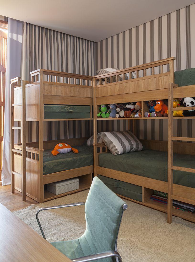 beliche para receber os amiguinhos decorao de marina linhares cama verde