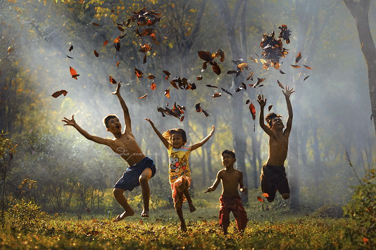 """Overjoyed - From my workshop last month: Intoducing the happiest children in the world.   More images here: <a href=""""http://www.rarindraprakarsa.com"""">WEBSITE</a>  