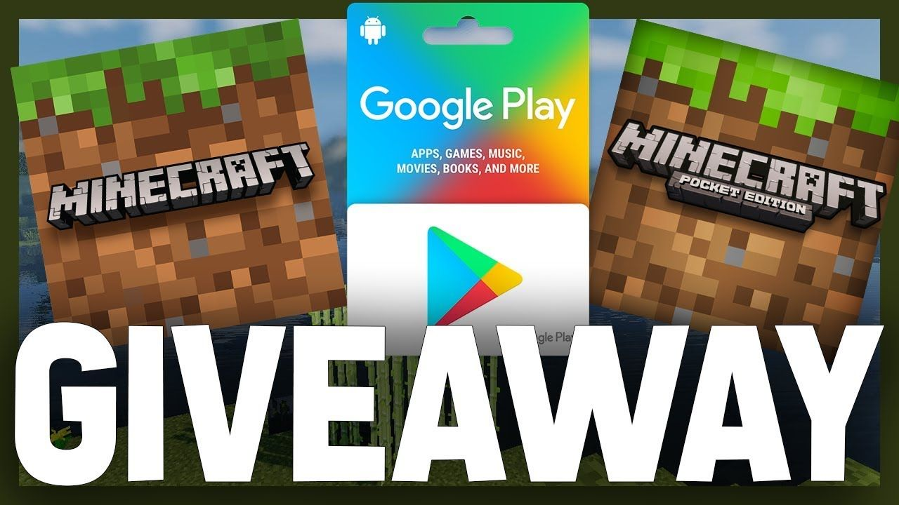 Minecraft Pocket Edition Java Edition Giveaway Google Play Gift C Pocket Edition Minecraft Pocket Edition Google Play Gift Card