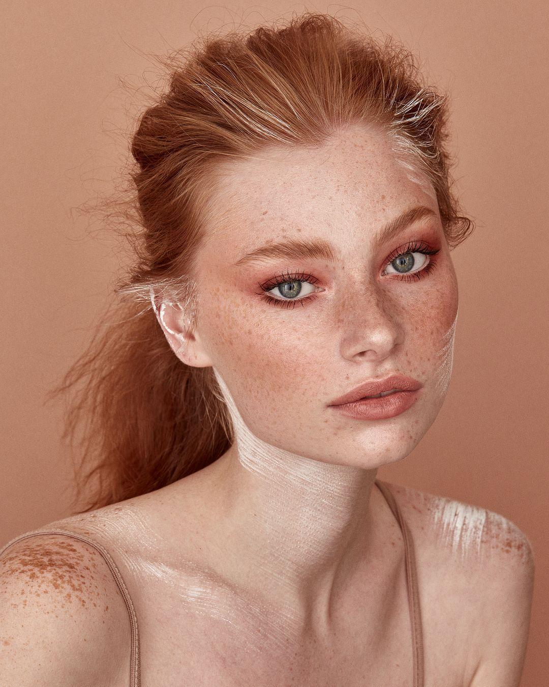 Redhead makeup, Freckles makeup, Freckles girl, Natural