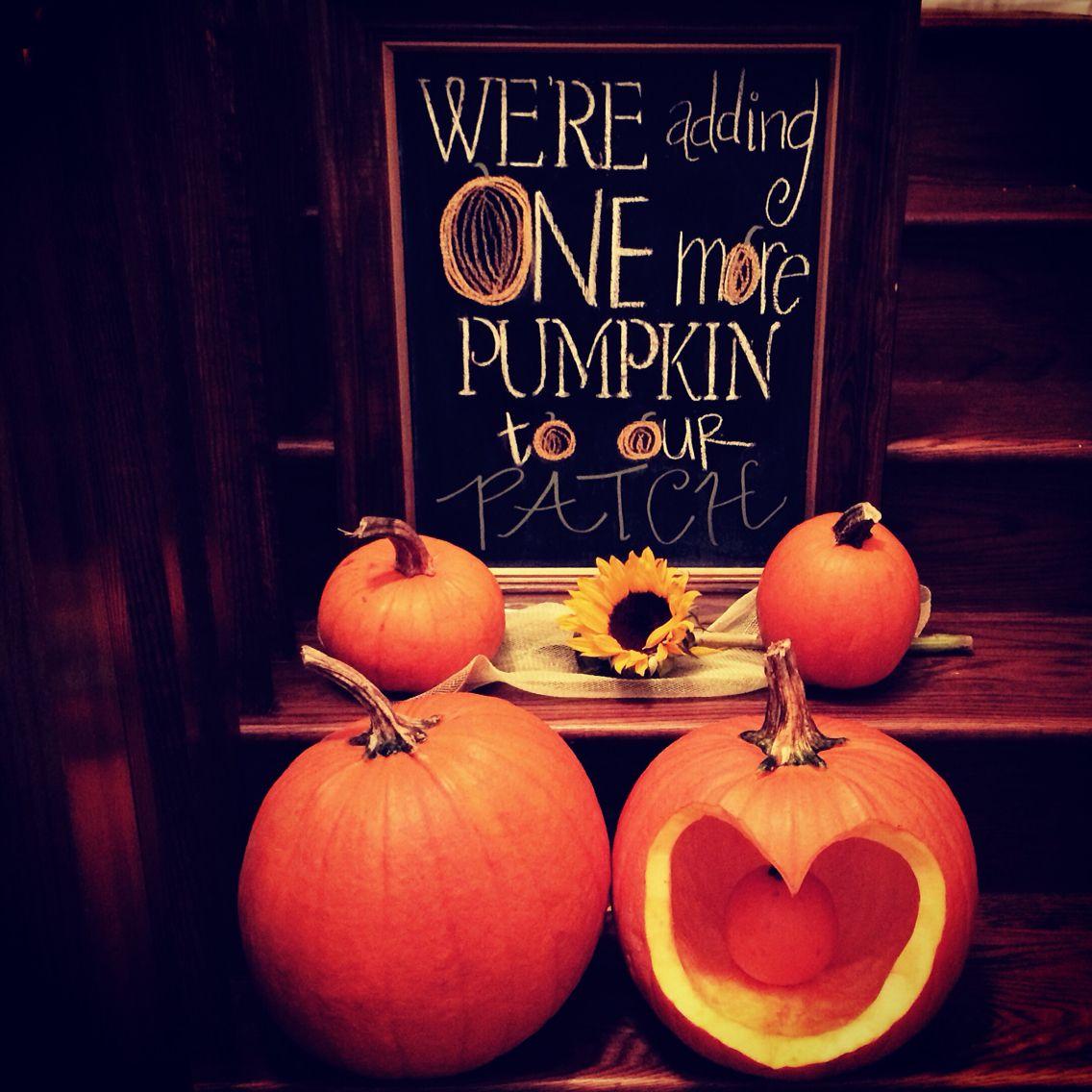 Fun Fall Birth Announcement were adding one more pumpkin to our – Fall Birth Announcements