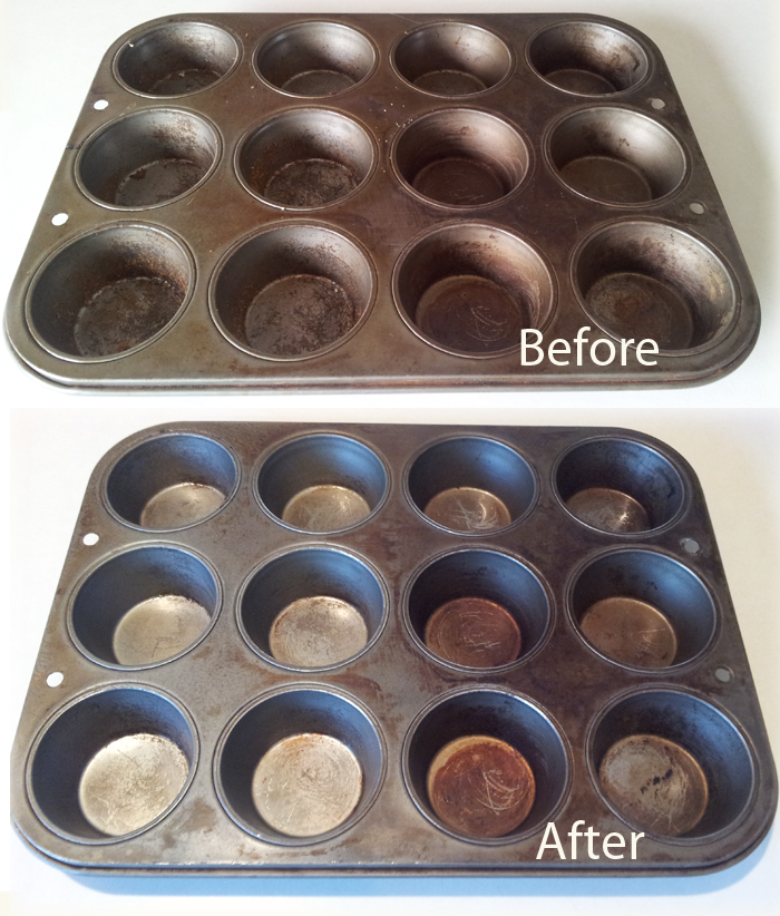 how to remove rust from a muffin tin how to remove rust cleaning baking sheets how to clean rust how to remove rust from a muffin tin