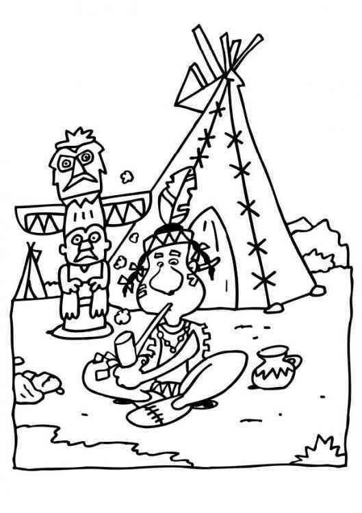 Indianer 36 Ausmalbilder Coloriages Coloring Pages Indian