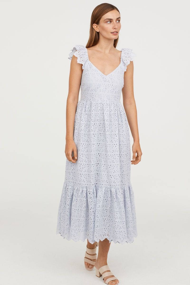 8dff57deb Embroidered Dress | Light blue | WOMEN | H&M US | want to wear in ...