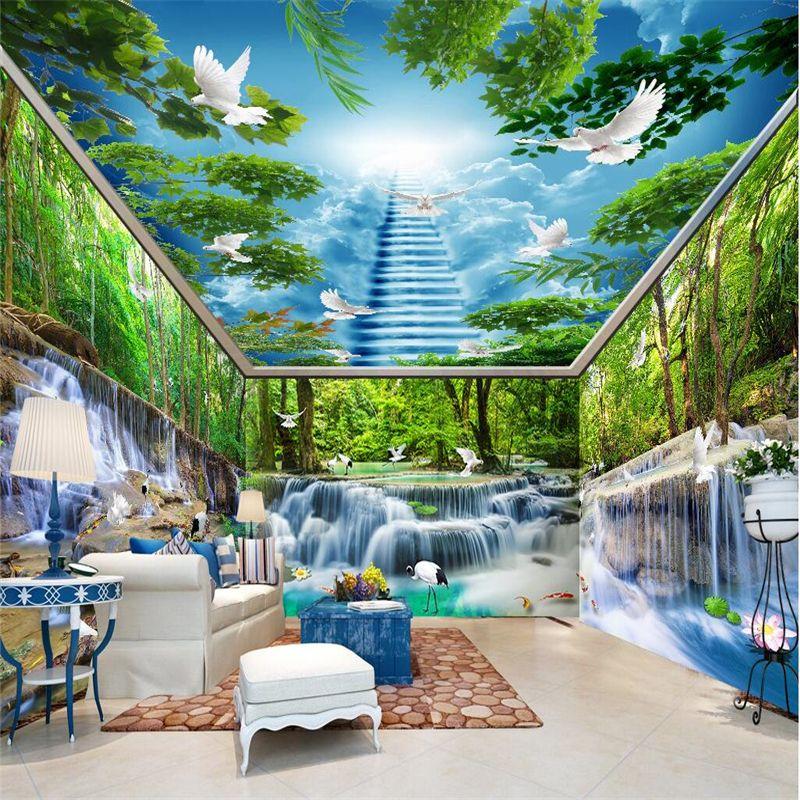 beibehang Custom Photo Wallpaper Mural Wall Stickers