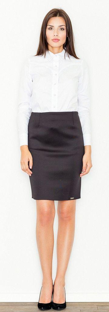 Modest secretary in white stockings tkea off her dress