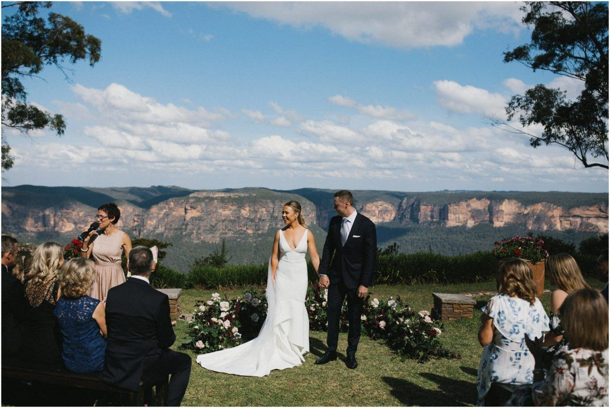 The Ceremony Location Of This Allview Escape Blue Mountains Wedding Blue Mountain Wedding Mountain Wedding