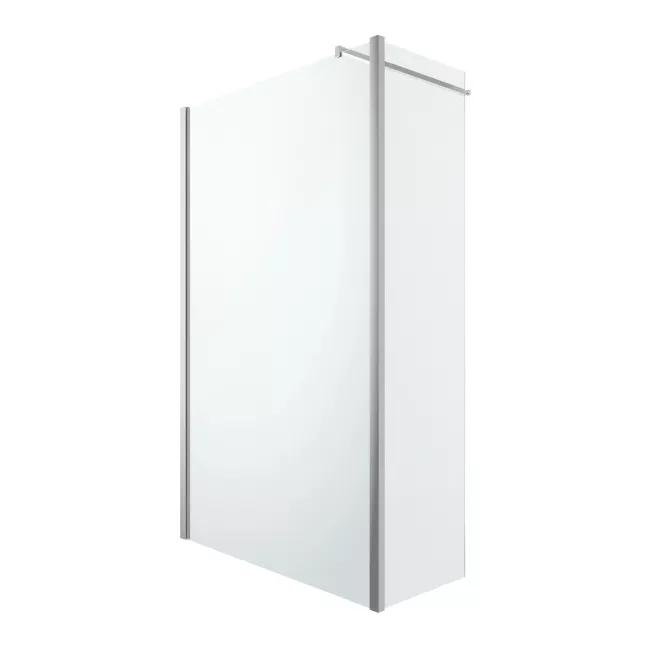 Kabina Prysznicowa Walk In Goodhome Beloya 80 45 Cm Chrom Transparentny Scianki I Drzwiczki Shower Panels Glass Shower Walk In Shower