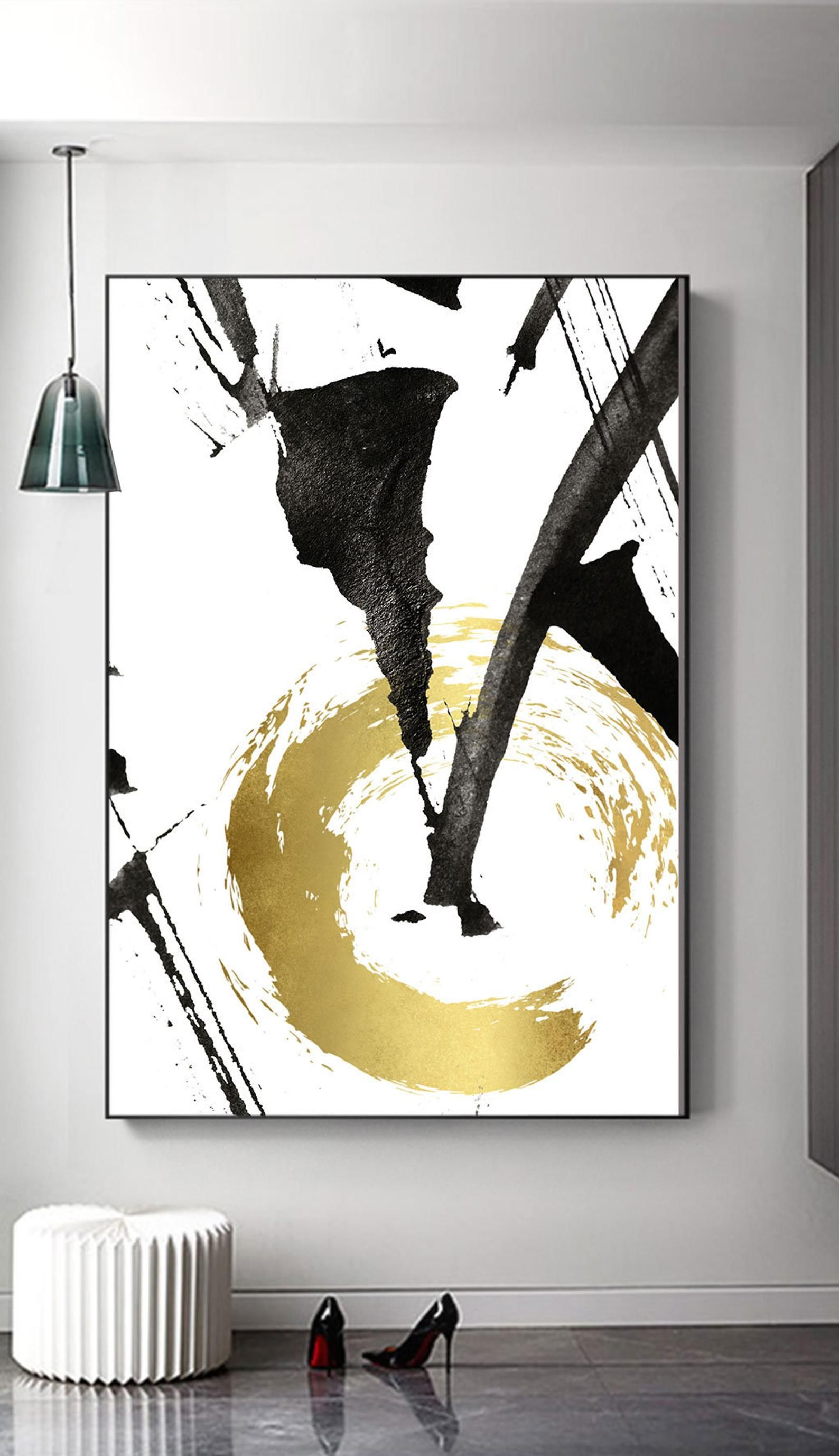 Abstract Gold Foil Print Black And Gold Modern Wall Art Printable Bedroom Print Set Instant Download Fashion Print Minimal Office Art Etsy Wall Art Abstract Painting Abstract Art Painting