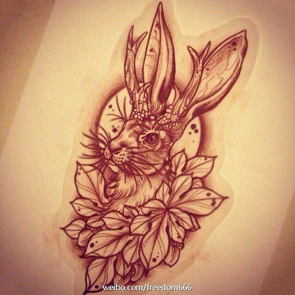 cool rabbit tattoo