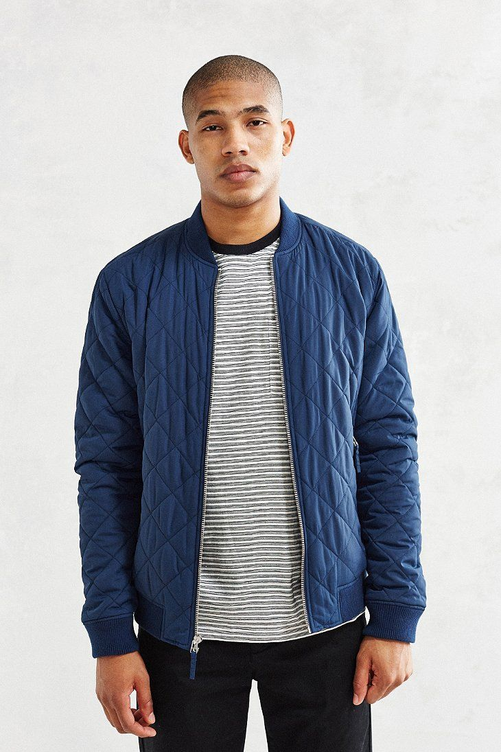 Quilted Bomber Jacket H M For Men Bomber Jacket Outfit Bomber Jacket Mens Outfits