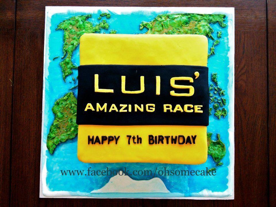Amazing race theme cake design.  Party Time  Pinterest