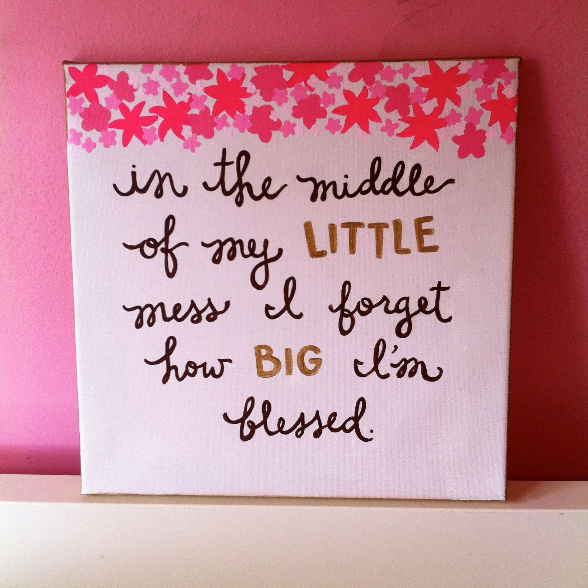 Cute Quotes On Canvas: Canvas For Little! This Would Be Cute For Big-little