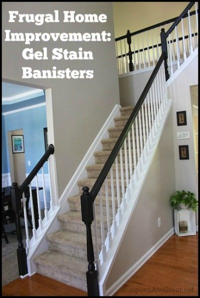 Frugal Home Improvement Idea Using Gel Stain On Banisters