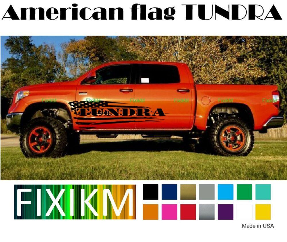 For 2000 2018 toyota tundra graphics decal flag sr sr5 limited platinum 1794 cm fixikm