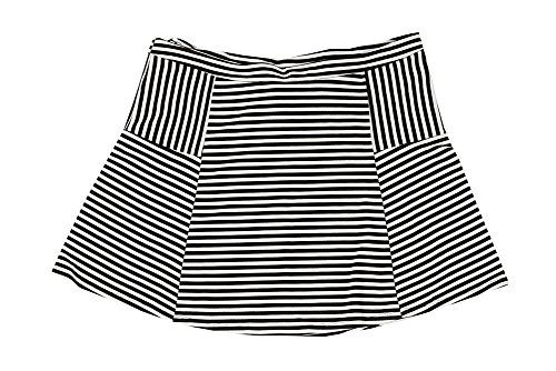 3451773227610 Junarose Plus Size Striped Skater Skirt 1X Black White -- Check this  awesome product by going to the link at the image.