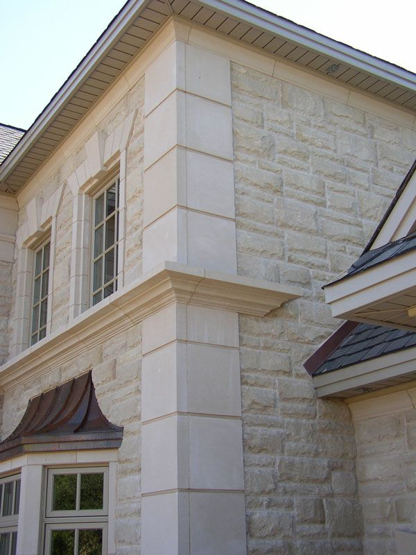 Cast Stone Quoins With Midline Banding And Window Surrounds Keystones Legends Architectural