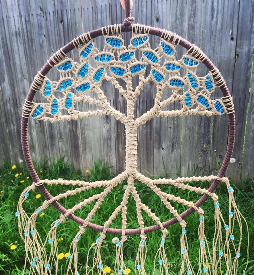 Tree of Life macrame wall hanging made with natural hemp and ...