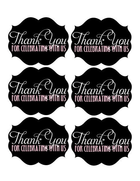 Printable Thank You Tags Printable Favor Tags Free Birthday Stuff Favor Tags