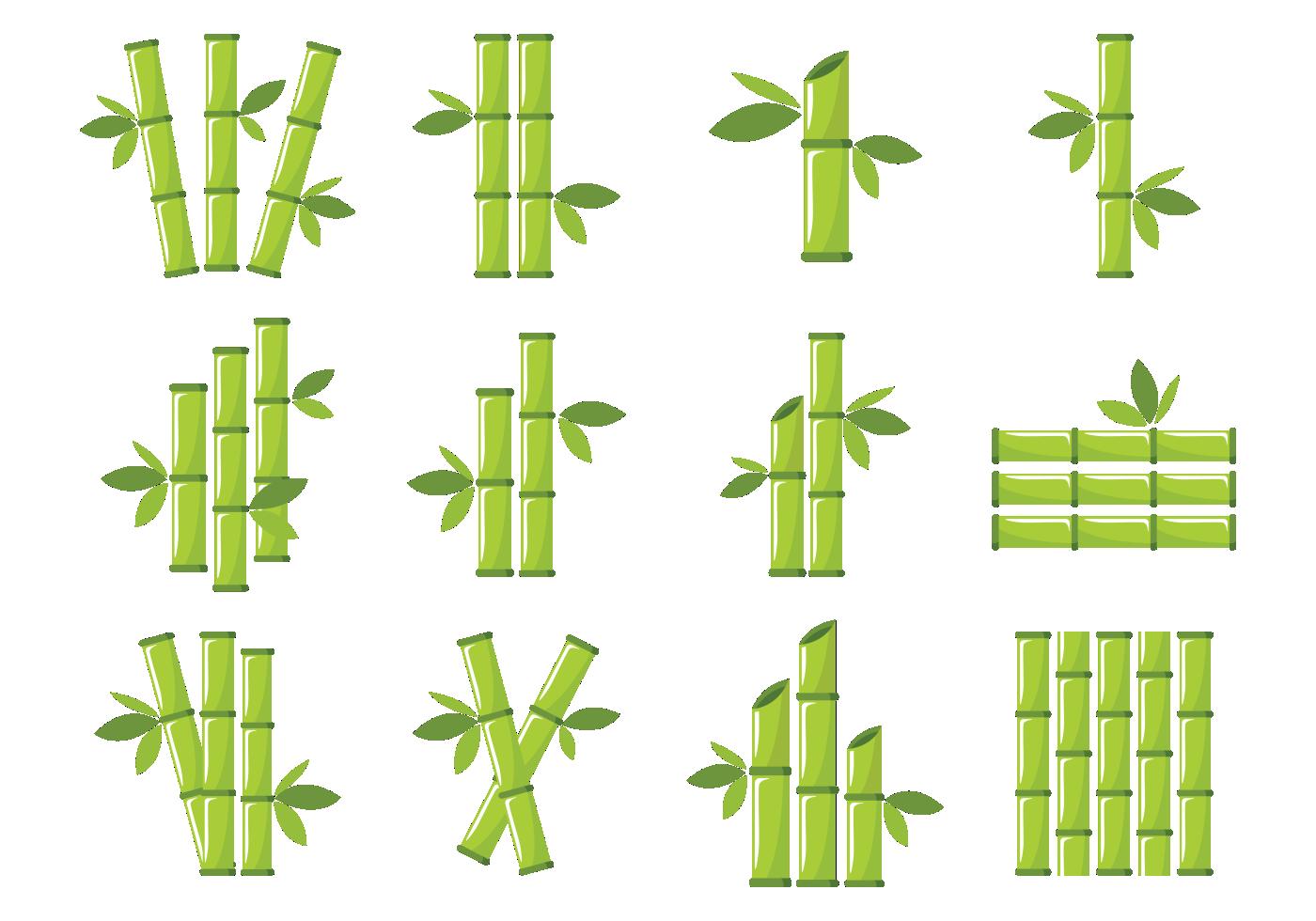 Bamboo stalks, transparent background, to resize