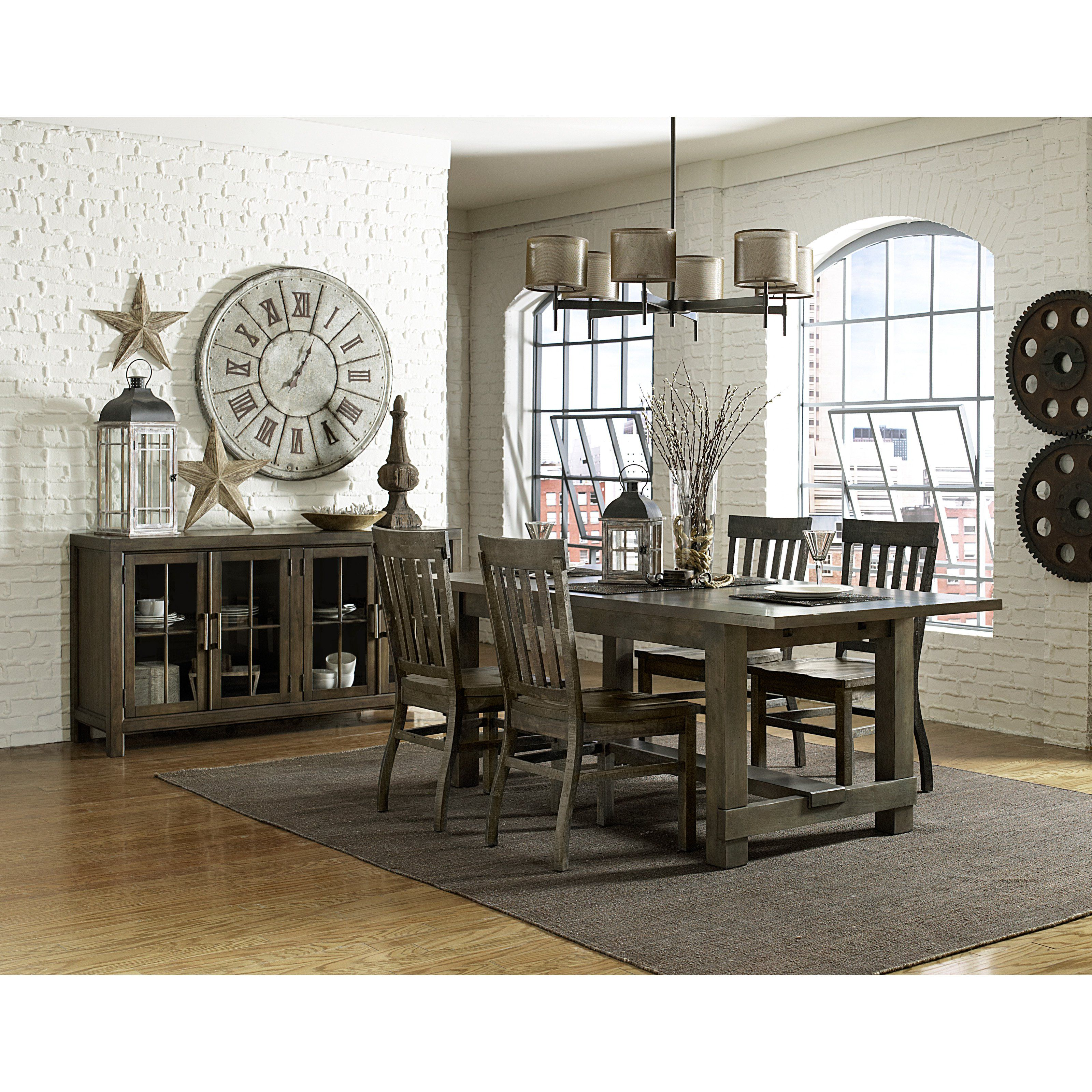 Magnussen Karlin Wood Rectangular Dining Set With Wood Chairs   Traditional  Dining Style Looks As Timely As Ever In The Magnussen Karlin Wood  Rectangular ...