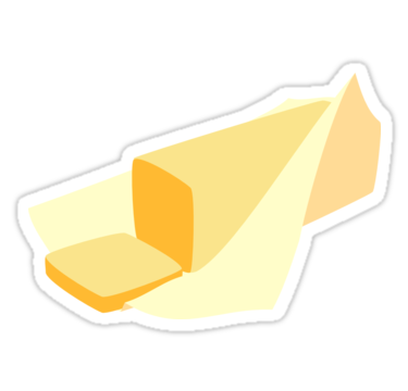 Stick Of Butter Sticker By 13sparrows In 2021 Aesthetic Stickers Stickers Scrapbook Stickers