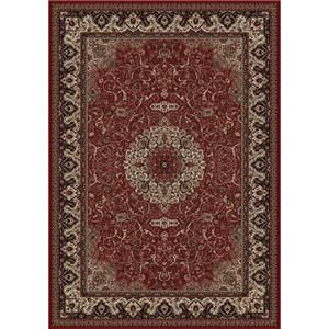 Concord Global Trading Inc. Presidential Red-Ivory 5.3 x 7.7 Area Rug : Red-Ivory - 965001539