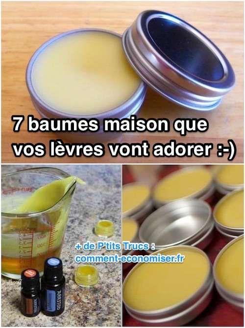 7 Baumes à Lèvres Faciles à Faire Que Vos Lèvres Vont ADORER.