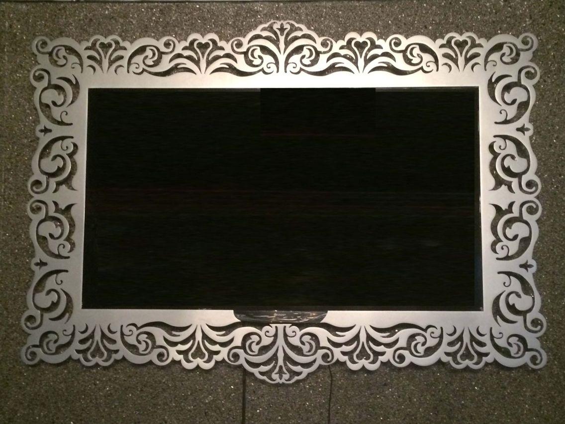 Laser cut metal TV frame | Kverkus | Pinterest | Espejo, Laser y ...