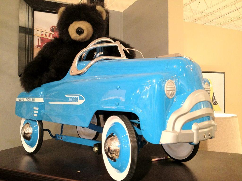 Blue Pedal Car. accessories atlanta