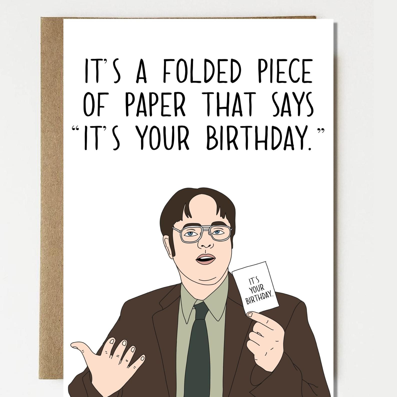 Funny Dwight Schrute The Office Inspired Birthday Card