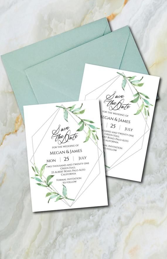 Navy Blue Save The Date Template, Blue Floral Save The ...