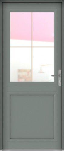 Langeais mixte porte d 39 entr e mixte alu bois classique - Porte d entree mixte alu bois ...