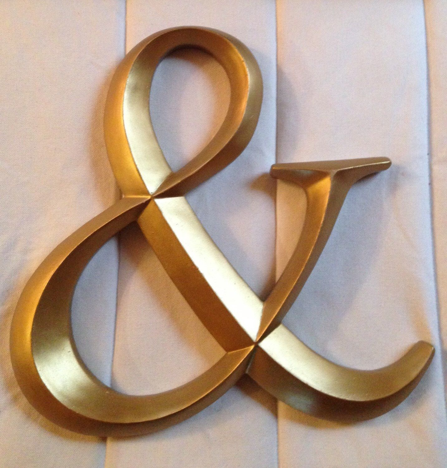 Gold Letters For Wall Large Wall Letters Ampersand Large Gold Letter Initials