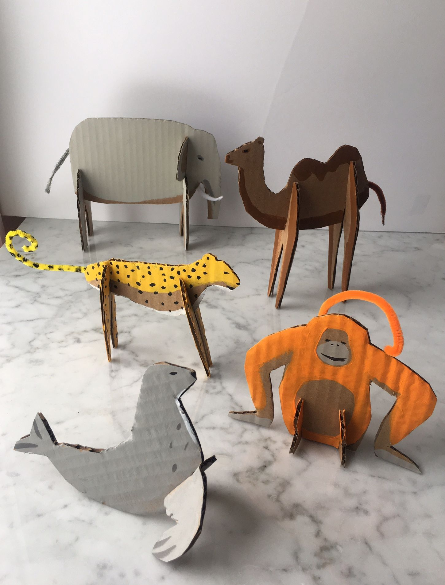 Recycled Cardboard Zoo Animals 2019 Teach Art Cardboard Art