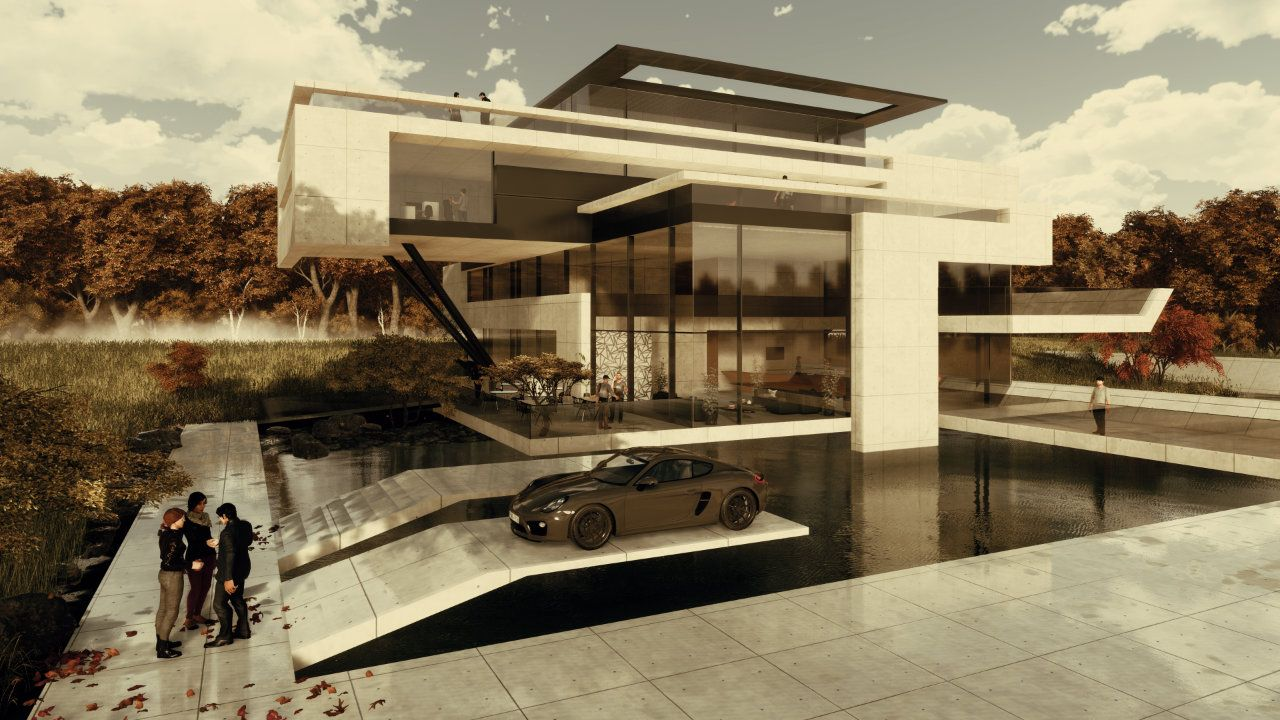 Moderne Villa Bauen Mit Flachdach In Exklusiver Stadtlage Grosszugiges Wohnhaus Skulpturaler Architektur