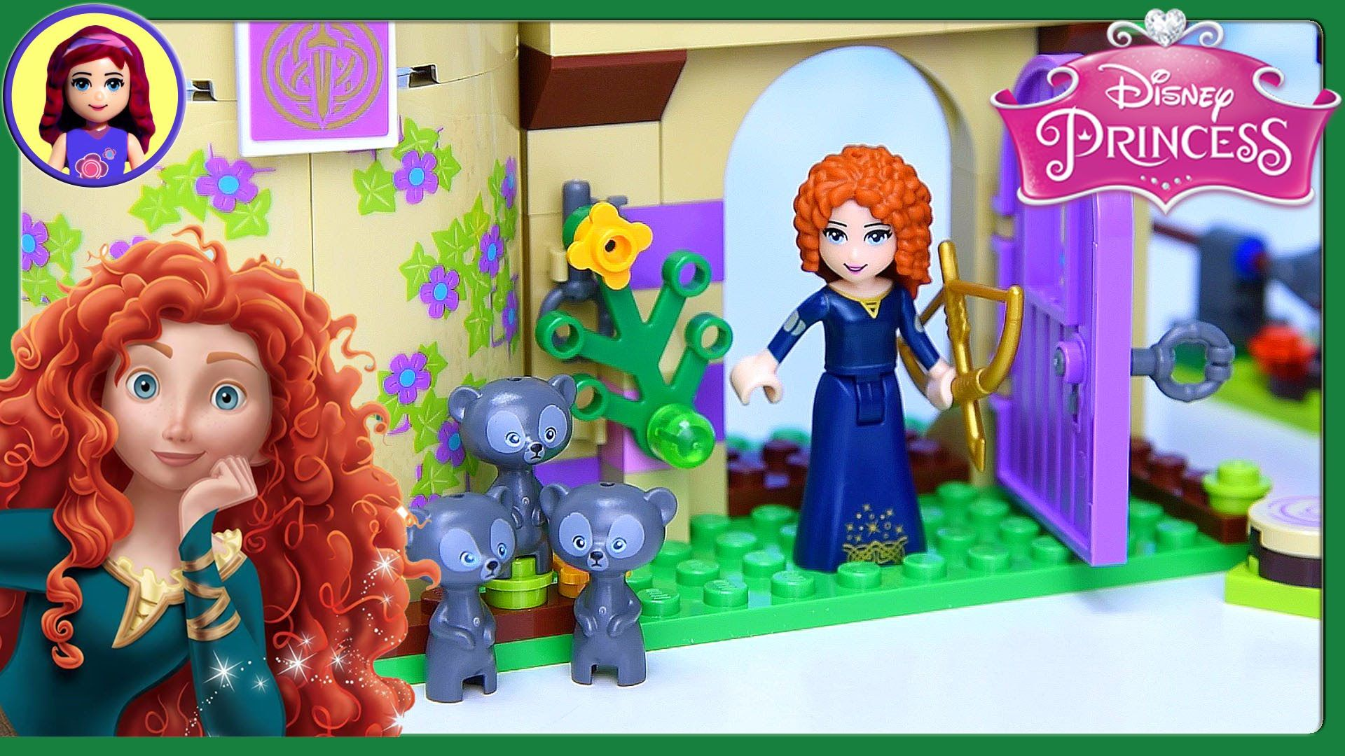 Lego Disney Princess Merida S Brave Highland Games Castle Set Build Revi Lego Disney Princess Lego Disney Disney Princess Merida