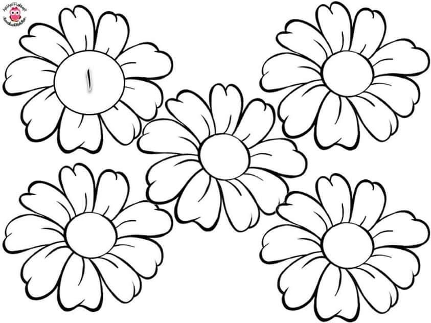 цветы для раскрашивания и вырезания берри