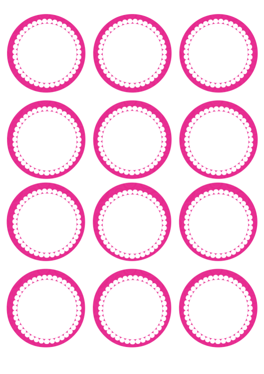 "Guides Theme  Cupcake Topper; 15 x 2/"" 50mm circles."