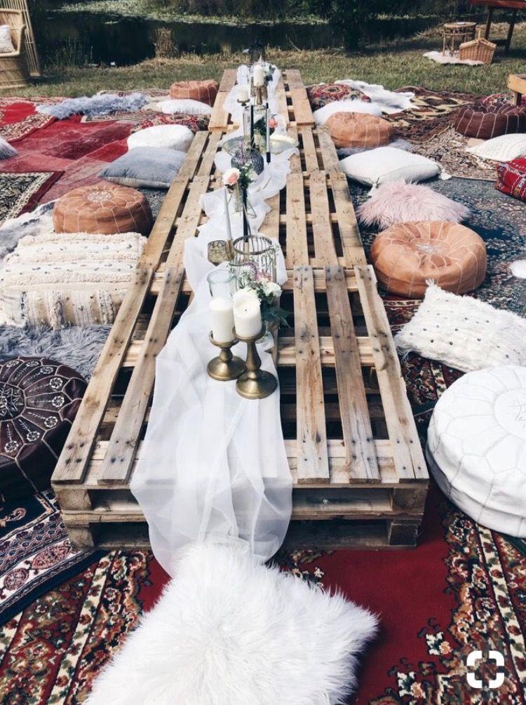 Tischdecke hochzeit  Diy hochzeitstischdeko  Gartenparty