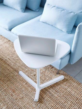 SVARTÅSEN white laptop stand with adjustable height  IKEA