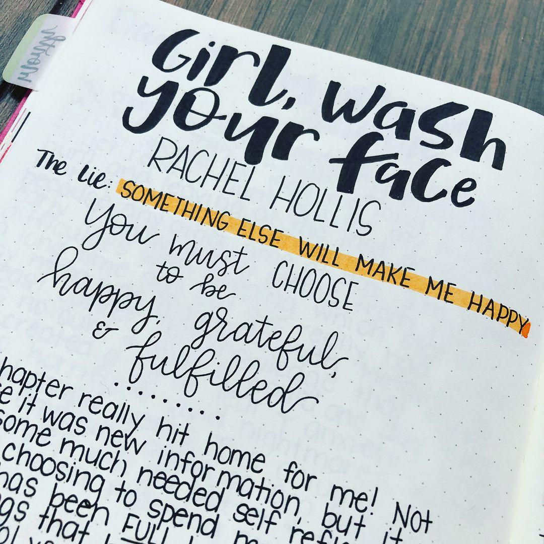 Girl Wash Your Face By Rachel Hollis Bullet Journal Book
