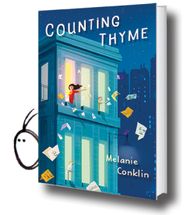 Counting Thyme by Melanie Conklin.  Thyme's family moves from San Diego to New York City so her brother can participate in a program to help cure his cancer.  Moving to a new city, having a kid brother who is very ill, and a new school can be rough.  But Thyme will accept any challenge to help her brother get better.