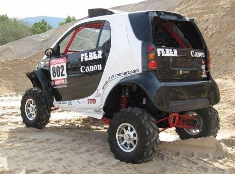 Spanish Pilot Turns Smart Fortwo Into Paris Dakar Rally Racer