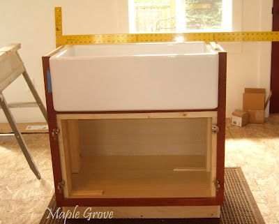How To Build A Support Structure For A Farm House Sink With