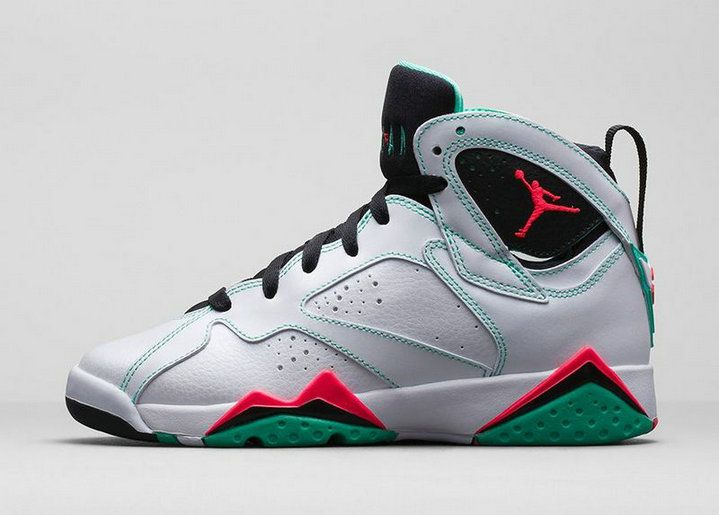 5355a08b521 Authentic Cheap Air Jordan 7 New green red white shoe woAuthentic Cheap Air Jordan  retro 7 vii shoe for sale